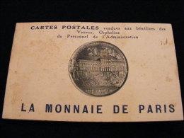 Carnet 20 Cpa La Monnaie De Paris Vendues Aux Bénéfices Des Veuves Orphelins Du Personnel -- Toutes Photos  AVRIL18-8bis - Monnaies (représentations)