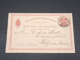 DANEMARK - Entier Postal De Copenhague Pour Stolpen En 1884 - L 17502 - Interi Postali