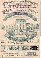 Ribes Par Vouneuil Sur Vienne (86 Vienne) Carte CHARRAUDEAU (vins) (PPP12739) - Advertising