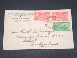 NOUVELLE ZÉLANDE - Enveloppe Commerciale De Auckland Pour La Suisse En 1937 - L 17513 - 1907-1947 Dominion