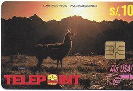 TÉLÉCARTE PHONECARD PEROU LAMA MACHU PICCHU  S/10 ALO USA - Pérou