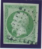 5 C Vert N° 12 TB D'aspect. - 1853-1860 Napoléon III