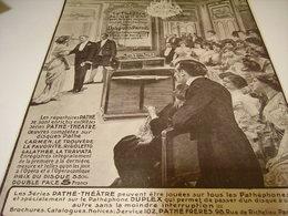 ANCIENNE PUBLICITE GRAND PHONOGRAPHE DE PATHE 1912 - Other