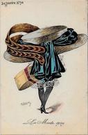 CPA ROBERTY Style Sager Non Circulé Art Nouveau Sans Numéro Ni éditeur Mode Chapeau érotisme - Robert
