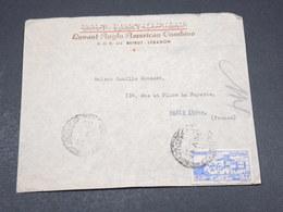 LIBAN - Enveloppe Commerciale De Beyrouth Pour Paris En 1947 - L 17521 - Liban