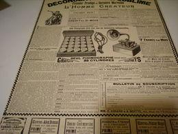 ANCIENNE PUBLICITE GRAND PHONOGRAPHE L HOMME CREATEUR  1899 - Other