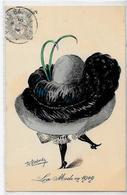 CPA ROBERTY Style Sager Timbré Art Nouveau Sans Numéro Ni éditeur Mode Chapeau érotisme - Robert