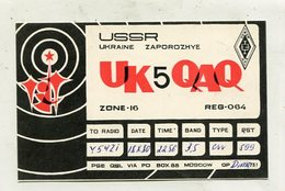 QSL CARD - AK 324444 USSR - Ukraine - Zaporozhye - Radio Amateur
