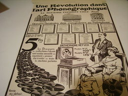 ANCIENNE PUBLICITLES PATHEPHONE REFLEX  1913 - Other