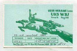 QSL CARD - AK 324446 USSR - Ukraine - Lvov - Radio Amateur