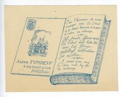 Vieux Papiers Ex Libris Alexis Tumbeuf Rue Robert Le Coin Paris Publicité - Ex Libris
