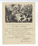 Vieux Papiers Ex Libris 1909 Société Archéologique Le Vieux Papier Henry Vivarez Marcel Poëte - Ex Libris