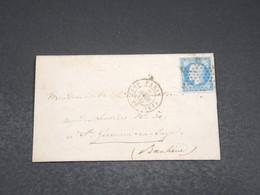 """FRANCE - Lettre De Paris Pour St Germain En Laye En 1860 , Oblitération étoile , Cachet """" JS PARIS"""" - L 17531 - Marcofilia (sobres)"""