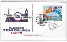SOUVENIR PHILATELIQUE  SOUS BLISTER  NEUF TUNNEL SOUS LA MANCHE 1994 - Souvenir Blocks
