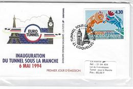 SOUVENIR PHILATELIQUE  SOUS BLISTER  NEUF TUNNEL SOUS LA MANCHE 1994 - Foglietti Commemorativi