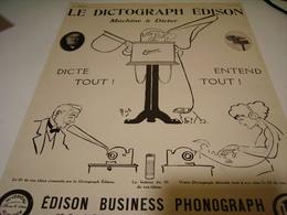 ANCIENNE PUBLICITE LE DICTOGRAPH  DE  EDISON 1912 - Musique & Instruments