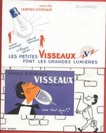 Buvard Ancien - VISSEAUX - RASOIR ELECTRIQUE & LAMPES, AMPOULES (illustrations) - Electricity & Gas