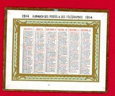 Calendrier, Almanach Des Postes Et Télégraphes 1914, Format 12 Cm X 9.5 Cm, Très Bon état, Voir Scans - Calendars