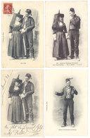 4 CPA Bresse, Types Bressans - Costumes, Bressanne, Zet Et Zette  ( S. 2887 ) - Non Classés