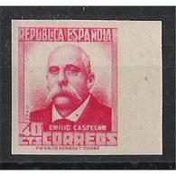 ES736SD-LFT***736STAN.España.Spain . Espagne.PERSONAJES.EMILIO CASTELAR.1936/8.(Ed 736s**). - 1931-Hoy: 2ª República - ... Juan Carlos I