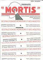 7 Buvards Anciens Identiques MORTIS Destruction RONGEURS & INSECTES, MOUCHES,MOUSTIQUES - Usine à Montreuil S/Bois - Farm