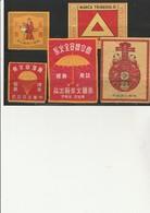 CHINE   5 ETIQUETTES BOITES D'ALLUMETTES - Matchbox Labels
