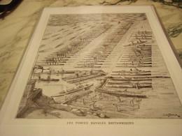 AFFICHE  LES FORCES NAVAL BRITANNIQUES 1912 - 1914-18