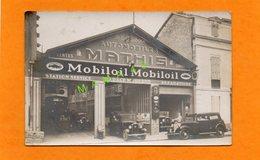 CARTE PHOTO - 40 - DAX - GARAGE MODERNE -  VENTES REPARATIONS VOITURES MATHIS - CARTE TRES ANIMEE - M. DUBOIS CLIENTS - Dax