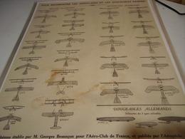 AFFICHE  BIEN RECONNAITRE LE AEROPLANE ET DIRIGEABLE ENNEMIS 1914 - 1914-18