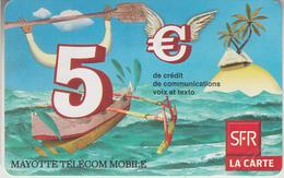 MAYOTTE - TÉLÉCARTE - GSM DU MONDE *** RECHARGE GSM - SFR5 - 01/10 *** - TAAF - Franse Zuidpoolgewesten
