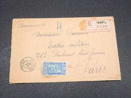 SÉNÉGAL - Enveloppe En Recommandé De Thies Pour Paris En 1931- L 17540 - Sénégal (1887-1944)
