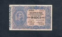 10 Lire Vittorio Emanuele III° 11 10 1915 Sup Rara  LOTTO 1835 - [ 1] …-1946 : Kingdom