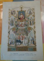 [COMMUNION & BAPTÊME ] GRANDE Image / Certificat De Baptême, Communion, Confirmation, 1936. RARE. - Images Religieuses