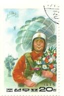 1976 - Corea Del Nord 1351 Paracadutismo, - Paracadutismo