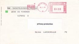ITALIA LOTTO N° 1 AFFRANCATURA ROSSA RAI RADIOTELEVISIONE ITALIANA - Poststempel - Freistempel