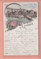 OLD POSTCARD  CROATIA - LOVRAN - GRUSS AUS LOVRANA 1896 - Kroatië