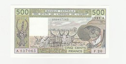 500 Francs 1989A UNZ - Côte D'Ivoire
