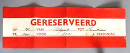 Etiquette Réservation Train AFAC Uitgeest-Amsterdam Coll Schnabel - Other