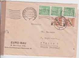 ALLEMAGNE 1949 LETTRE DE BERLIN CENSUREE - Cartas