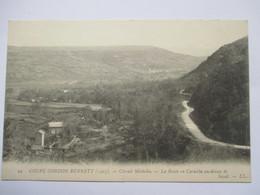 COUPE GORDON BENETT 1905 -    LA ROUTE  EN CORNICHE  AU  DESSUS  DE  SAYAT        TTB - Autres Communes