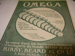 ANCIENNE PUBLICITE MONTRE OMEGA HEURE JUSTE  1913 - Altri