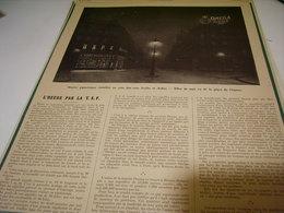 ANCIENNE PUBLICITE MONTRE OMEGA HEURE PAR LA TSF   1914 - Bijoux & Horlogerie