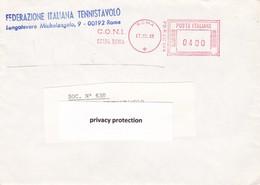 ITALIA LOTTO N°  8 AFFRANCATURA ROSSA FEDERAZIONE ITALIANA TENNISTAVOLO - Affrancature Meccaniche Rosse (EMA)
