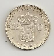 Curacao 1944 2,5 Guilder Silver - Curacao