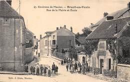 78-BRUEIL-EN-VEXIN- RUE DE LA MAIRIE ET ECOLE - Autres Communes