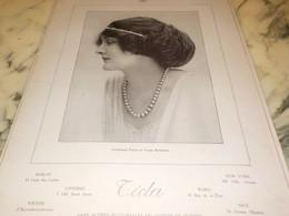ANCIENNE PUBLICITE LES PERLES CREATION   TECLA 1912 - Bijoux & Horlogerie