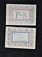 Food Rations , 10 Pcs. Lot ,TYPE -P3 And ZERO`, Peoples Republic Of POLAND Comunistic Era, Rare Notes - Coins & Banknotes