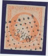 40 C Orange N° 16 Obl Pc 3398 (Tours) TB. - 1853-1860 Napoléon III