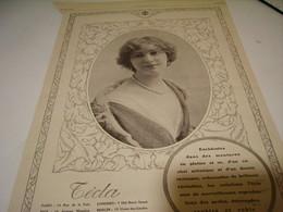ANCIENNE PUBLICITE LES PERLES CREATION   TECLA 1914 - Bijoux & Horlogerie