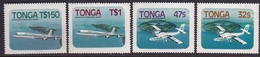Tonga 1983 Aviation Stamps Airplanes MNH Set Scott # 541/4 - Tonga (1970-...)